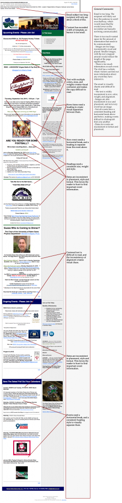 Email Newsletter with mark-up